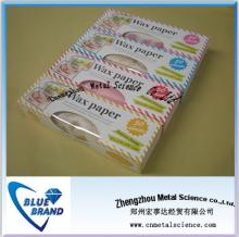 colored wax paper for food packaging/food grade wax paper