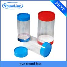 Profession  PVC  clear custom  transparent   plastic  cylinder container supplier