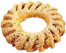 Handmade Mediterranean White & Black Sesame Bread-Ring (fasting product)