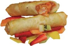 """Traditional """"Politiko"""" Vegetable Cucumber & Red Pepper Pie Flute"""