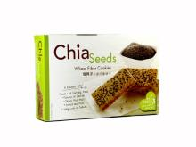 Chia Seeds Wheat Fiber Cookies Biscuit 150gm Halal Healthy Snacks with organic sugar & wheat flour