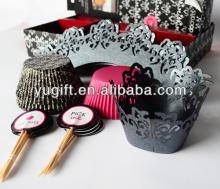 Hot!!! paper  cupcake  kit / wedding  decoration /  cupcake  decorating kits
