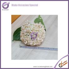 18447 champagne hydrangea hot sale good quality cheap artificial flowers