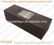 Solid  wood   wine  box with metal accessories