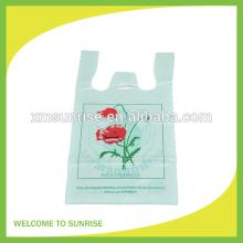China  supplier corn starch degradable t-shirt bags plastic