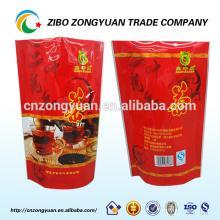 stand up tea bag with resealable zipper