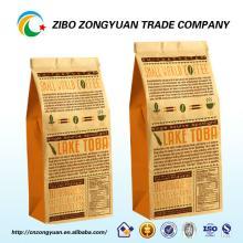 custom printing back seal side gusset plastic pyramid tea bag/coffee bag