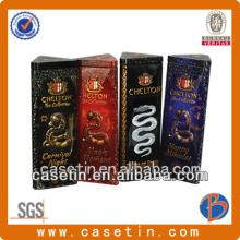 Triangular embossed chocolate bar cans chinese manufacturer