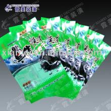 green  color meat packaging lamination pouch