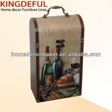 Vintage MDF  Wooden  Wine Case