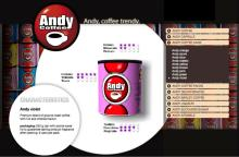 Andy coffee cans italian coffee violet