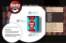 Andy coffee cans italian coffee azure