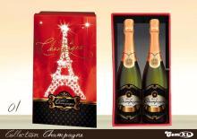 Two bottles Champagne Box