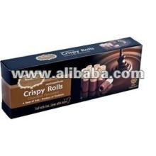 Crispy   Roll   Snack  Chocolate Flavoured. Thai  crispy   roll  dip with chocolate