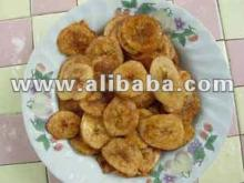 Thai fried banana chip with seasoning flavour