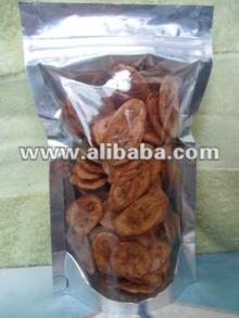Fried banana chip with seasoning flavour