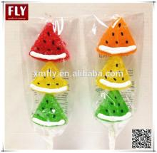 Watermelon slice soft pectin jelly pop sweets candy