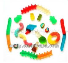 Various shape like worms,rings,egg,dolphin,bear soft gummy candy