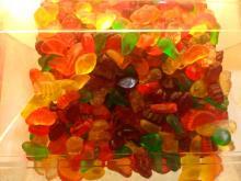 bulk halal fruit orange slices gelatin gummy candy