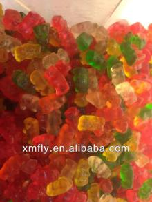 assorted fruit flavour mini vitamins chews gummy bears candy