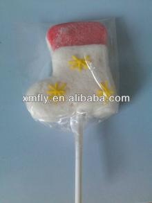 individual Handicraft cotton candy with boot shape Christmas marshmallow