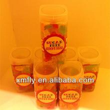 confection sweet gummy bear shaped sugar free candy in tin