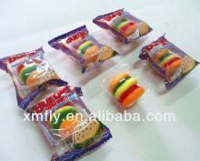 novelty mini bulk fruit custom individual chewing burger  gummy  sweet candy