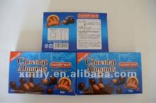 60g individual packing  dark   compound  almond chocolate candy