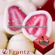 Freeze Dried Strawberries with White Chocolate Truffle