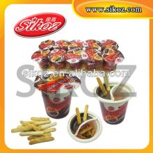 16g Chocolate Cup with biscuit stick SK-Q058