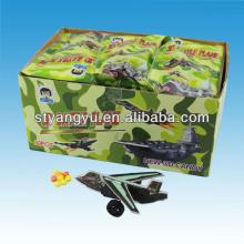 3D Puzzle Pull-back plane Toy candy