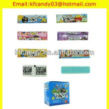 4g good quality 7cm tattoo gum/bubble gum with tattoo/sticker tattoo bubble gum