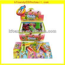 4G Good taste soft fruit flavor jelly filled bubble gum for promotional