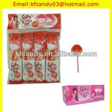 5g good flavor  round   stick  strawberry milk colourful lollipop candy
