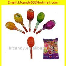 15g good taste bubble gum lollipop/lollipop candy/whistle lollipop