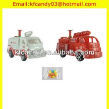 mini plastic fire engine car water  gun   toy  candy for kids
