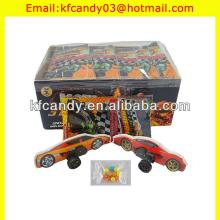 funny plastic mini 3D racing car  puzzle   toys  candy
