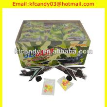 high quality plasitc 3D warplane puzzle candy toys for kids