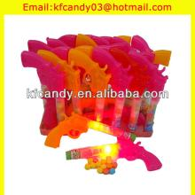 funny plastic light up machine guns toy candy for kids