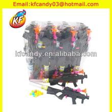funny plastic small heaving machine guns candy toy for promotional