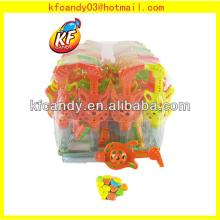 Best quality funny mini plastic whistle sweet candy toys for children