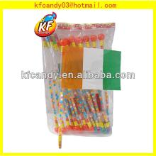 High quality plastic mini paper national flag candy toys novelty for children