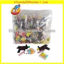 Funny plastic black repeating rifle sweet gun candy toy for kids