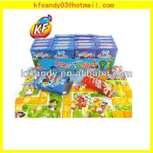 Hot selling plastic sweet intelligence toys puzzle games toys candy