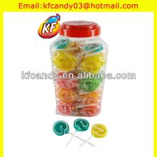 High quality sweet hard round stick lollipop candy for promotional