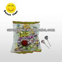 Bubble/chewing gum lollipop