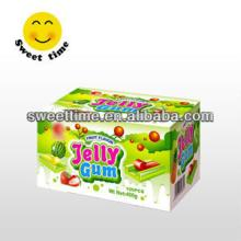 Hot sell fruity Jelly filled bubble chewing gum