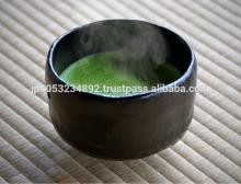 Matcha green tea powder available in various packaging forms
