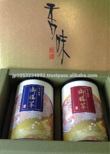 Japanese green tea tin box with adjustable quality level