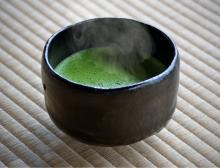 Japanese Matcha green tea tin can with adjustable quality level